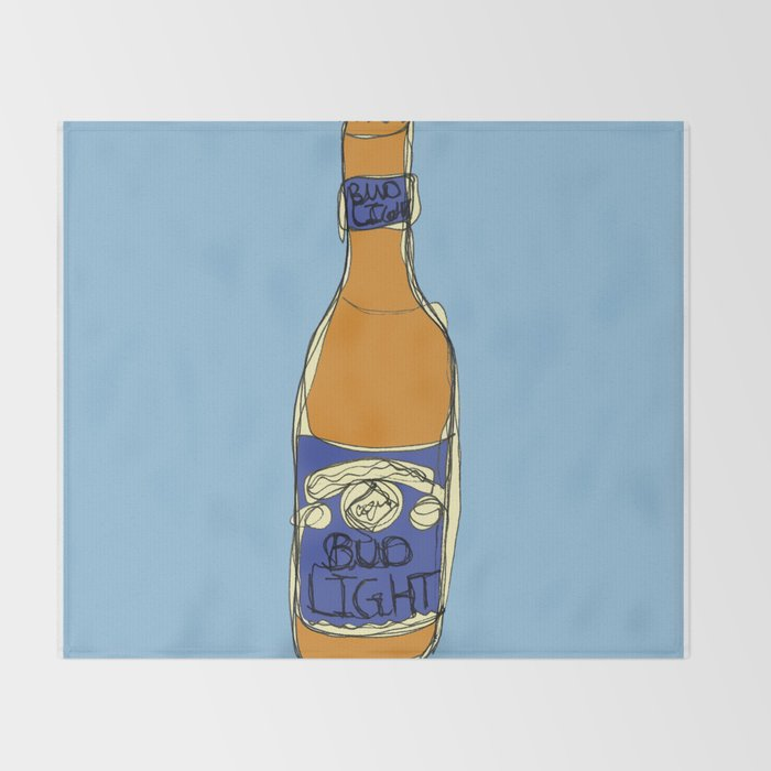 Bud Light Bottle Throw Blanket