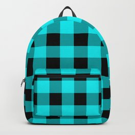 Blue Topaz and Black Check Backpack