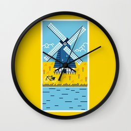 Holland Windmill Wall Clock