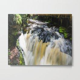 Blurred Lower Gorge Falls Metal Print