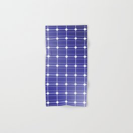 In charge / 3D render of solar panel texture Hand & Bath Towel