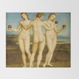 "Raffaello Sanzio da Urbino ""Three Graces"", circa 1504-1505 Throw Blanket"