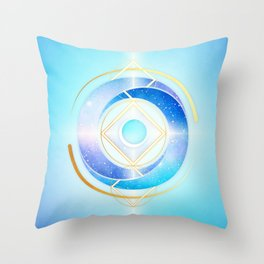 Floating Geometry :: Winter Swirl Throw Pillow