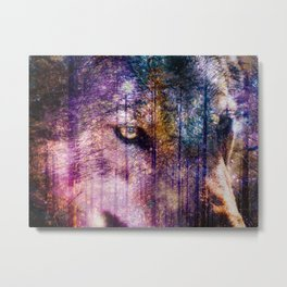 Wolf Forest : These Are My Forests Metal Print