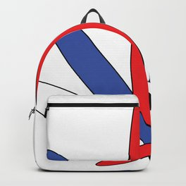 USA Red White and Blue Cannabis Leaf Backpack