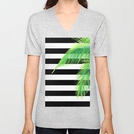 Simply Tropical Stripes Unisex V-Neck