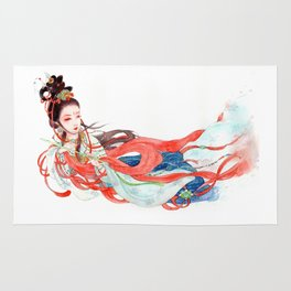 Watercolor Chinese Beauty -  Feitian Rug