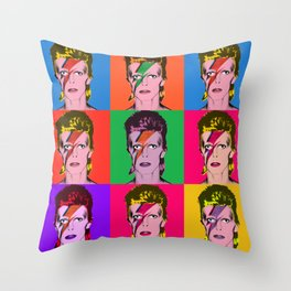 Bowie Warhol Style Throw Pillow