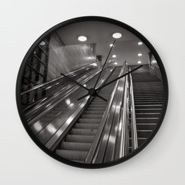Underground station - stairs - Brandenburg Gate - Berlin Wall Clock