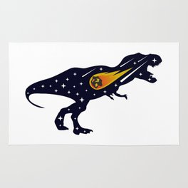 Dinosaur and meteorite strike #society6 #decor #buyart #artprint Rug