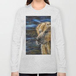 One Wet Golden Retriever by Teresa Thompson Long Sleeve T-shirt