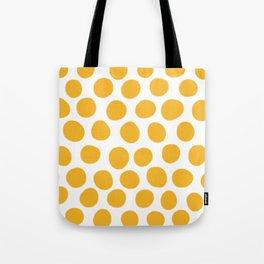 Honey Gold Dots - White Tote Bag