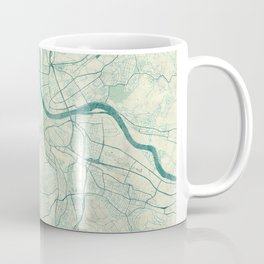 Basel Map Blue Vintage Coffee Mug