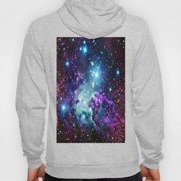 Fox Fur Nebula : Purple Teal Galaxy Hoody
