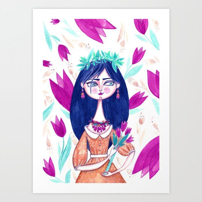 Miss Tulip Art Print