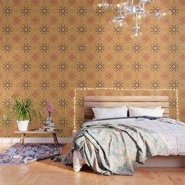 Yoga Henna buddha mandala pattern Wallpaper