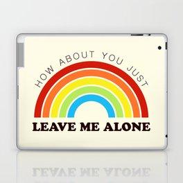 The Introvert's Plea - Classic Rainbow Laptop & iPad Skin