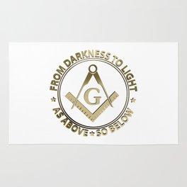 Freemasonry emblem Rug