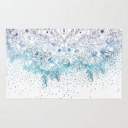 Elegant floral mandala and confetti image Rug