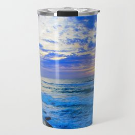 Tel Aviv Beach Sunset Travel Mug