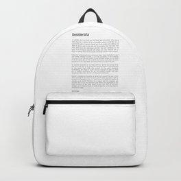 Desiderata #minimalism Backpack