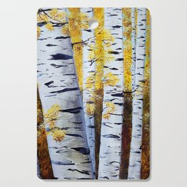 Birch Grove, acrylic painting, inspired by Belarus Cutting Board