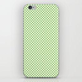 Jasmine Green Polka Dots iPhone Skin