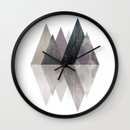 Modern Scandinavian Mountain Wall Clock