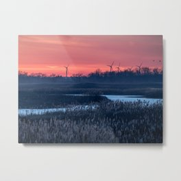 Long Point Sunsets Metal Print