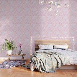 Sugar Pink Marble Wallpaper