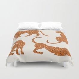 Leopard Block Party Duvet Cover