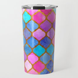 Geometric Turkish pattern. Watercolor. Travel Mug