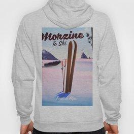 Morzine,French Alps, Ski poster Hoody