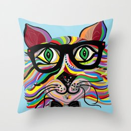 VERY Cool Cat Throw Pillow