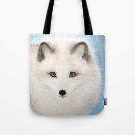 Inquisitive Arctic Fox Tote Bag