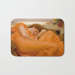 Flaming June Oil Painting by Frederic Lord Leighton Bath Mat