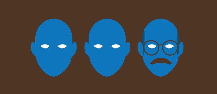 Blue Man Trio Coffee Mug