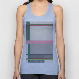 Green line - color square Unisex Tank Top