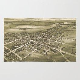 Vintage Pictorial Map of Gettysburg PA (1888) Rug