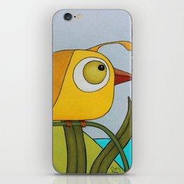 Yellow Wren Quail iPhone Skin