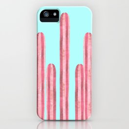 Garden of cacti and blue iPhone Case