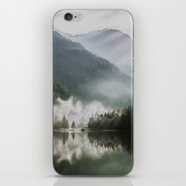 Dreamlike Morning at the Lake - Nature Forest Mountain Photography iPhone Skin