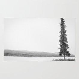 B&W Lone Spruce Tree Rug