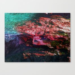 Coloured Layers - Rock Canvas Print