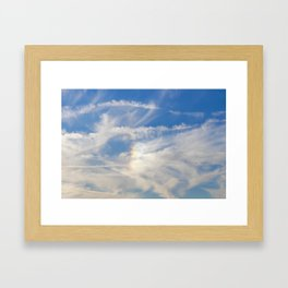 Irridescent Clouds Framed Art Print