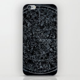 Northern Hemisphere Constellations White Blue iPhone Skin