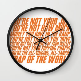 You're not your job Wall Clock