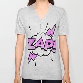 Zap Typography! Unisex V-Neck