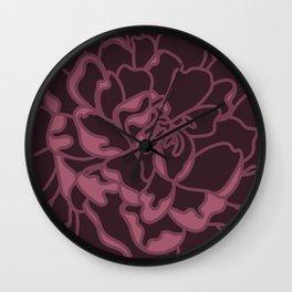 Blush Peony Wall Clock