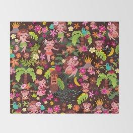 Hula Cuties Pattern Throw Blanket